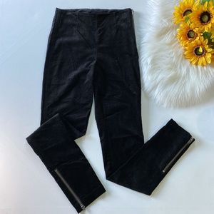 H&M Divided Velvet Zip Pants Ankle Zip Skinny 4